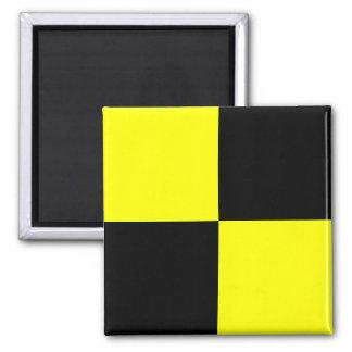 Nautical Flag Signal Letter L (Lima) Square Magnet