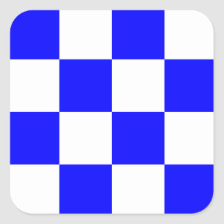 Nautical Flag Signal Letter N (November) Square Sticker