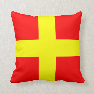 Nautical Flag Signal Letter R Romeo Cushion