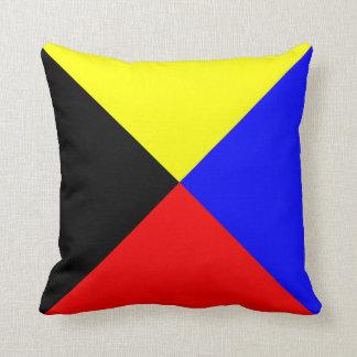 Nautical Flag Signal Letter Z Zulu Cushion