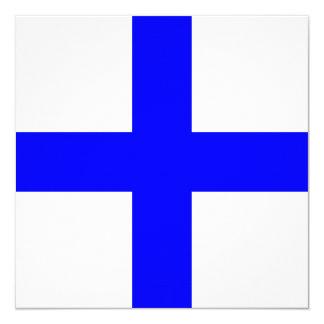 Nautical Flag Signal X-Ray Letter X 13 Cm X 13 Cm Square Invitation Card