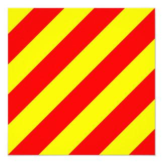 Nautical Flag Signal Yankee Letter Y Card