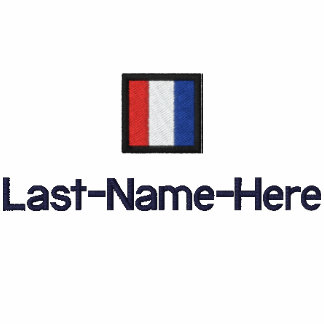 Nautical Flag T Shirt - Personalize Two Places Embroidered Polo Shirt