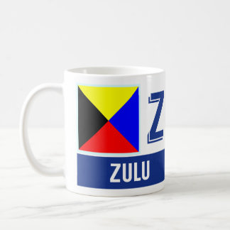 "Nautical Flags Alphabet ""Z"" Zulu Coffee Mug"