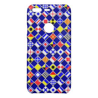 Nautical Flags Checkered Pattern on a Uncommon Google Pixel Case