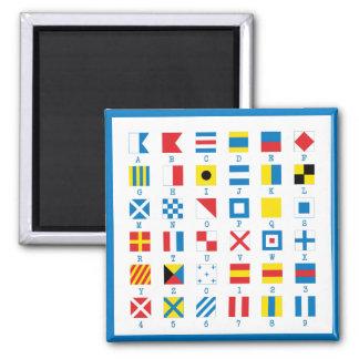 Nautical Flags Maritime Signals Alphabet Magnet