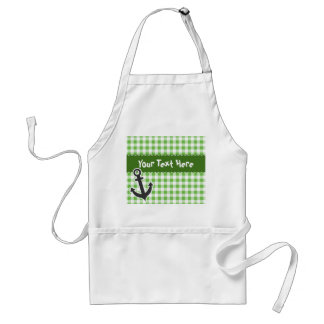 Nautical Green Gingham Standard Apron