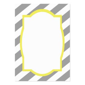 Nautical Grey Stripes Border Business Card
