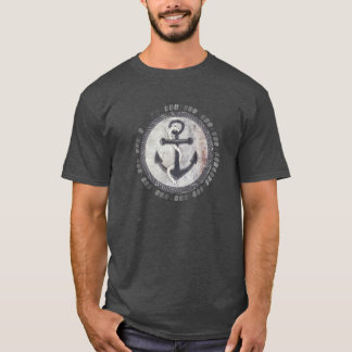Nautical Grungy Anchor Chalkboard Men's T-Shirt