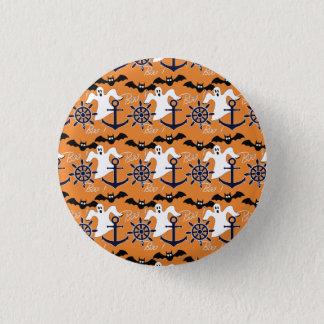 Nautical Halloween pattern 3 Cm Round Badge