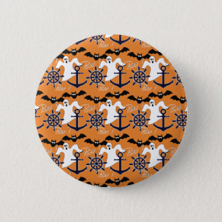 Nautical Halloween pattern 6 Cm Round Badge
