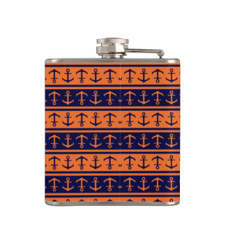 Nautical Halloween pattern Hip Flask
