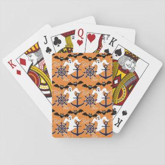 Nautical Halloween pattern Playing Cards