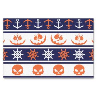 Nautical Halloween pattern Tissue Paper