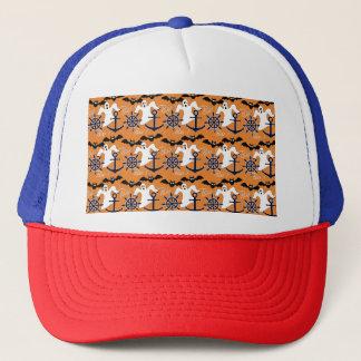Nautical Halloween pattern Trucker Hat