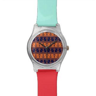 Nautical Halloween pattern Wrist Watches