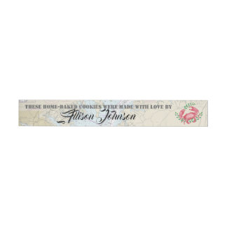 Nautical Happy Holidays from Baltimore Gift Tags Wraparound Address Label