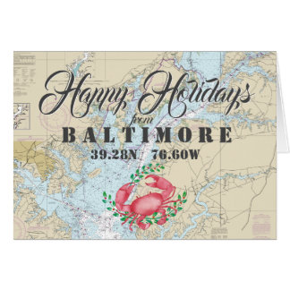 Nautical Happy Holidays from Baltimore PHOTO Card