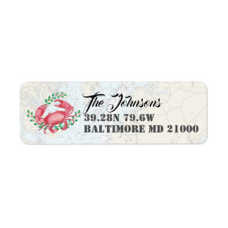 Nautical Happy Holidays from Baltimore Return Address Label