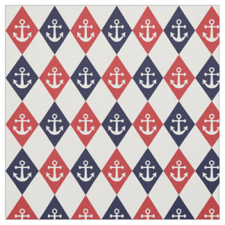 Nautical harlequin pattern fabric