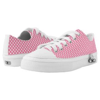 Nautical Hot Pink Plaid Pattern Zipz Shoes