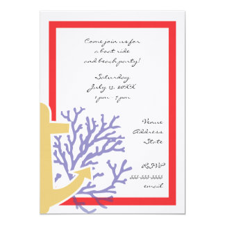 "Nautical Invitation 5"" X 7"" Invitation Card"