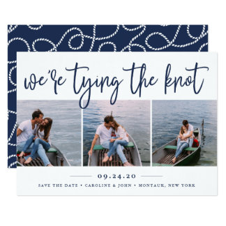 Nautical Knot   Photo Collage Save the Date Card