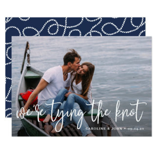 Nautical Knot   Photo Save the Date Card