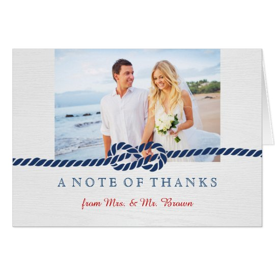 Nautical Knot Wedding Thank You Card