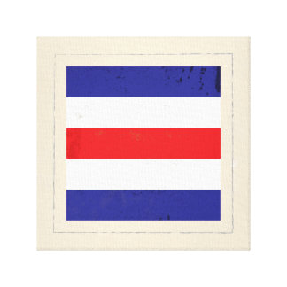 "Nautical Letter ""C"" Signal Flag Canvas Print"