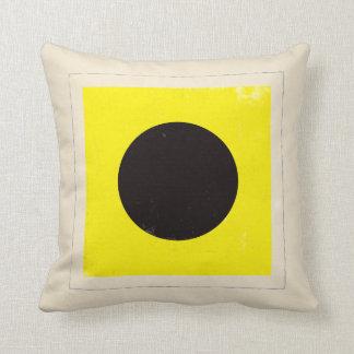 "Nautical Letter ""I"" Signal Flag Throw Pillow"
