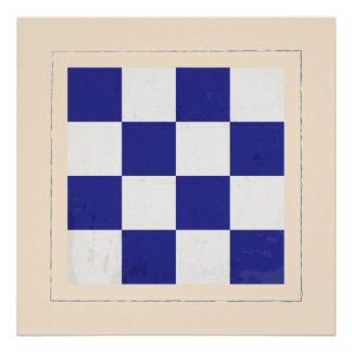 "Nautical Letter ""N"" Signal Flag Poster"