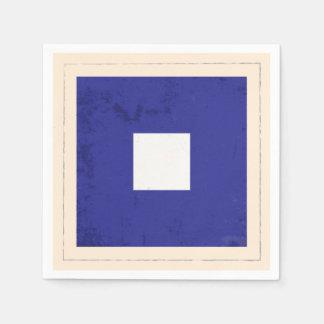 """Nautical Letter """"P"""" Signal Flag Disposable Serviette"""