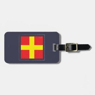 "Nautical Letter ""R"" Signal Flag Luggage Tag"