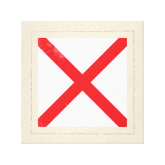 "Nautical Letter ""V"" Signal Flag Canvas Print"