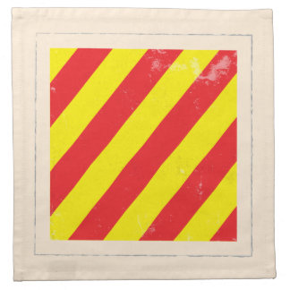 "Nautical Letter ""Y"" Signal Flag Printed Napkin"