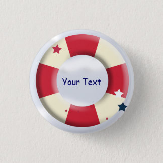 Nautical Lifesaver Design Custom Button