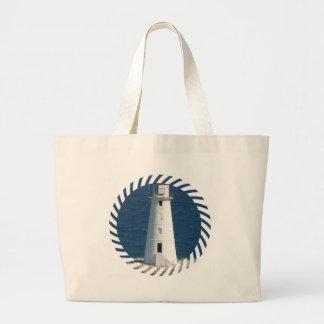 Nautical Lighthouse Canvas Bag