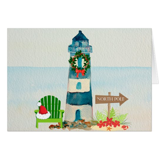Nautical Lighthouse Christmas Card