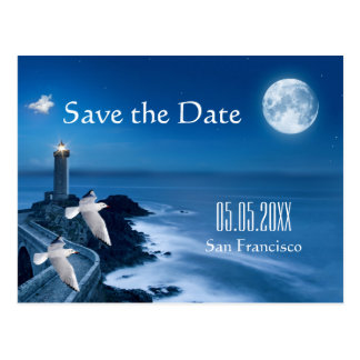 Nautical Lighthouse Ocean Save the Date Postcard