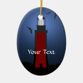 Nautical Lighthouse Oval Ornament