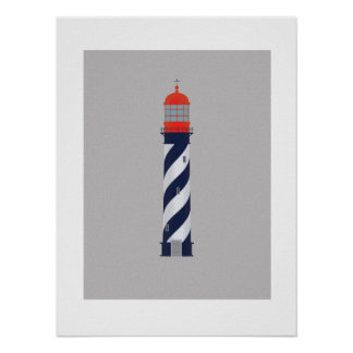 Nautical lighthouse printable art poster