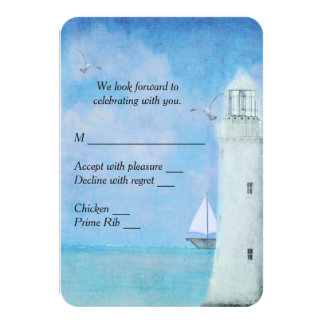 Nautical Lighthouse RSVP Card