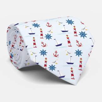 Nautical Lighthouse Sailboat Marine Tie Father Dad