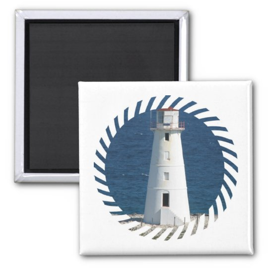 Nautical Lighthouse Square Magnet