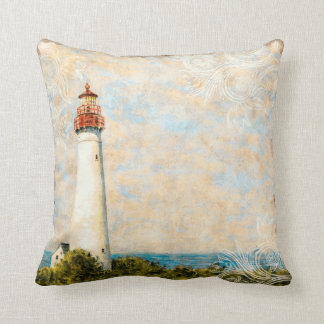 Nautical Lighthouse Throw Pillow