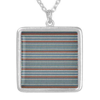 Nautical Linen Stripe Custom Necklace