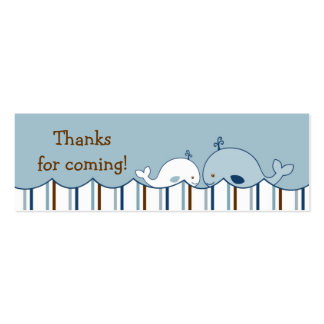 Nautical Little Whale Birthday Favor Gift Tags Business Card