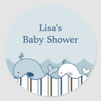 Nautical Little Whale Envelope Seals Stickers
