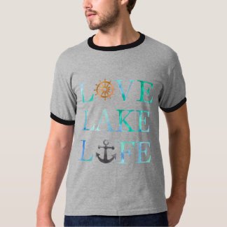 Nautical Love Lake Like Ships Boat Typography T-Shirt